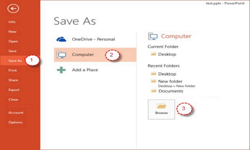 save as powerpoint show