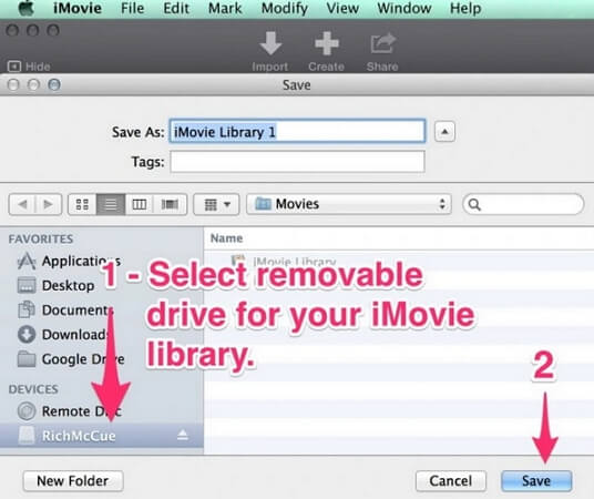 how to save unfinished imovie mac video