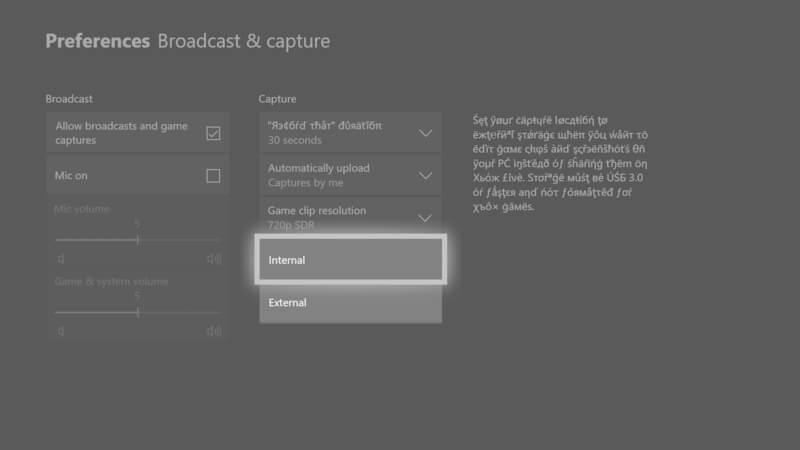 saving gameplay using external drive