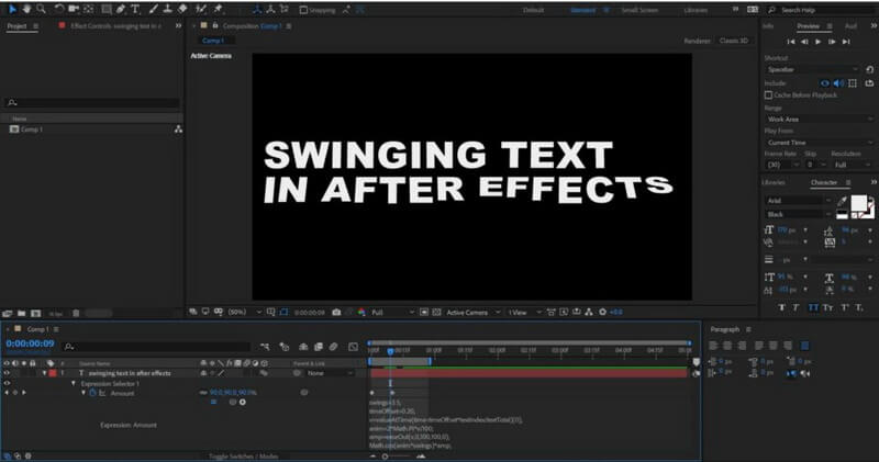 text-adobe-after-effects