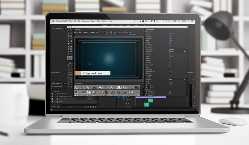 tips using title templates premiere pro