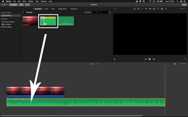 trim audio on media window