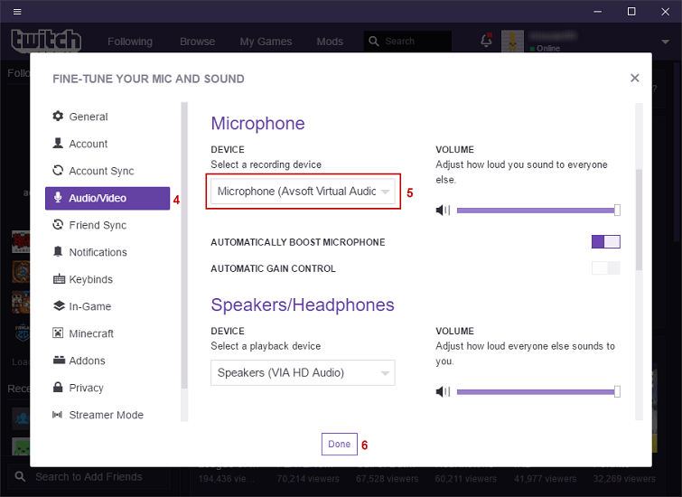 twitch microphone