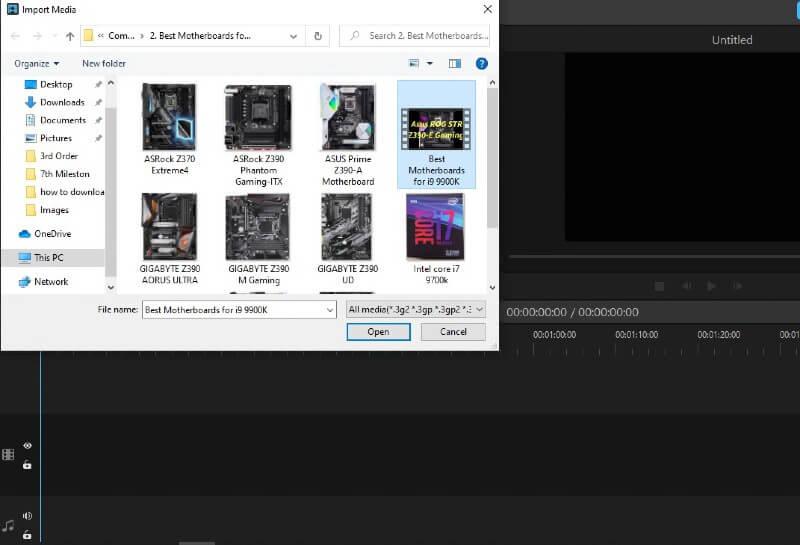 upload video in filme