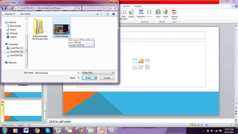 upload video to powerpoint