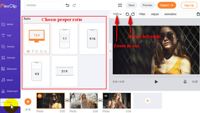 use flexclip to flip video2