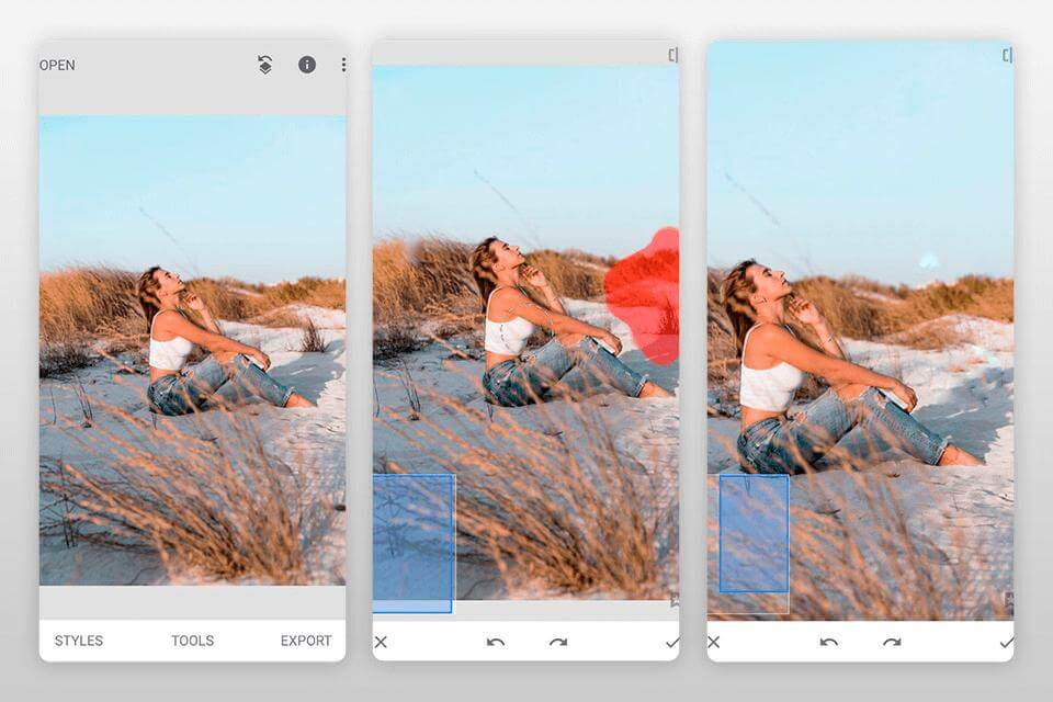 use snapseed to remove watermark