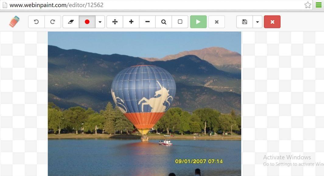 use webinpaint to remove watermark