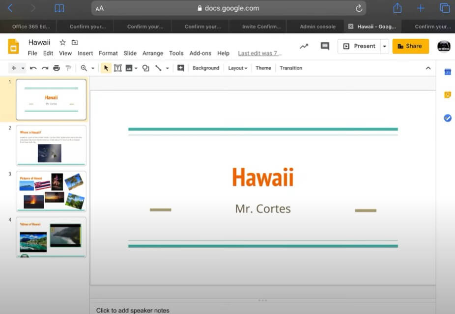 How to Add a Video on Google Slides on ipad