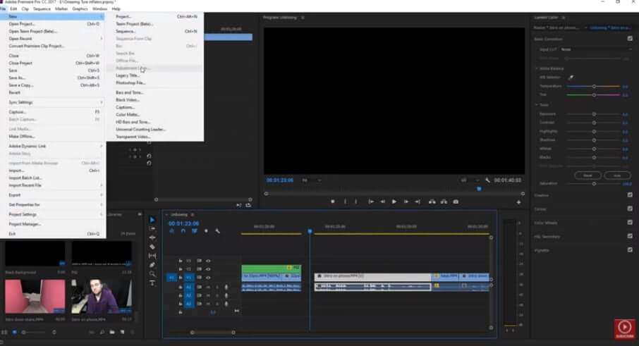 why the adjustment layer grayed out premiere pro