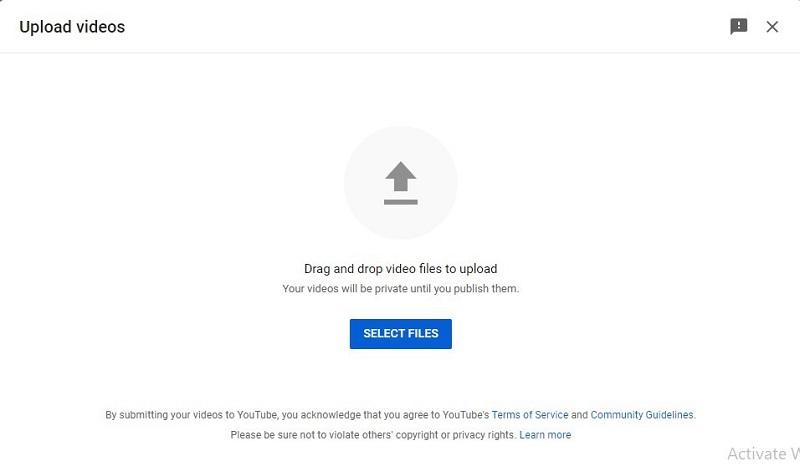 youtube studio upload video