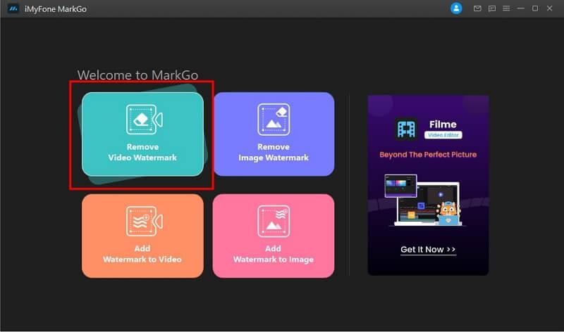 click on remove video watermark button