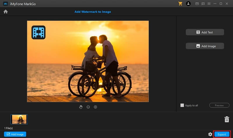 export image with watermark