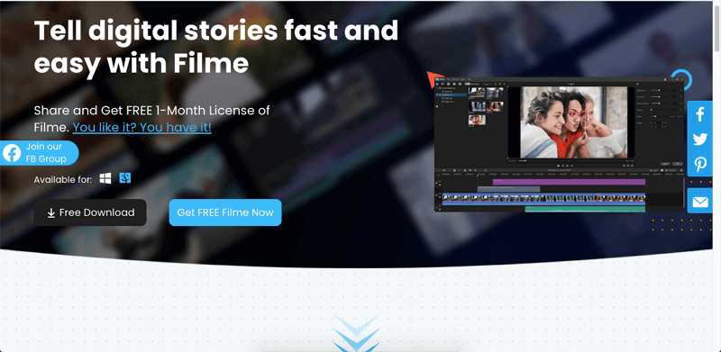 convert gif to video in imyfone filme with free offer