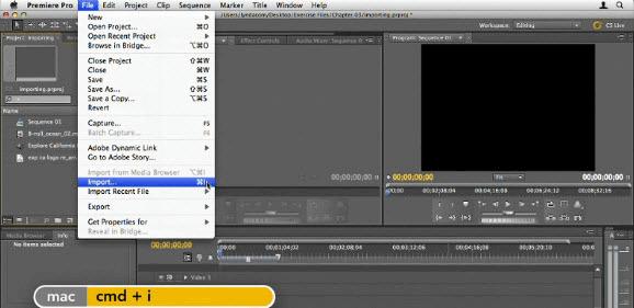 Adobe Premiere Pro add gif to video