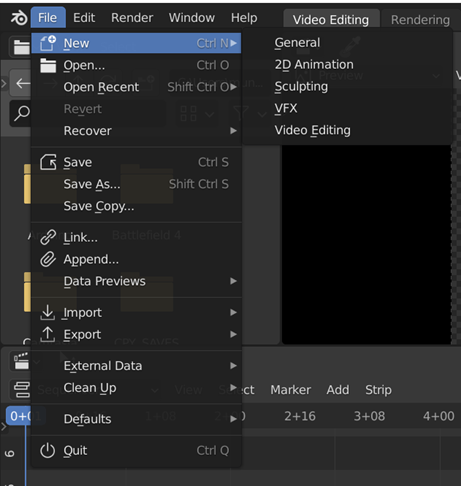 Blender New Projec