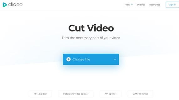 Clideo Cut Video Online