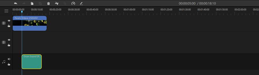 Filme Audio in Timeline