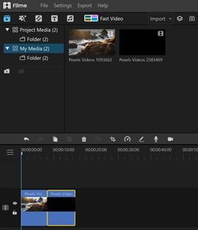 Filme Edit Timeline