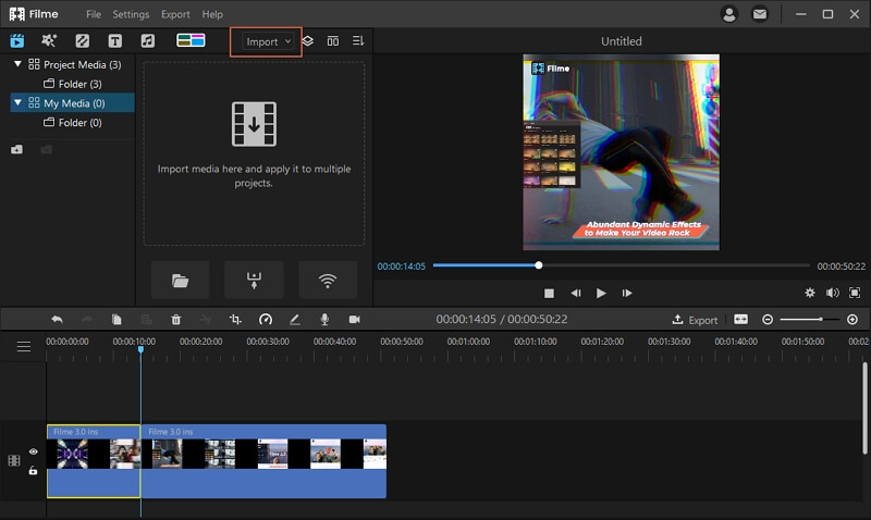 add gif to video Filme Import Media