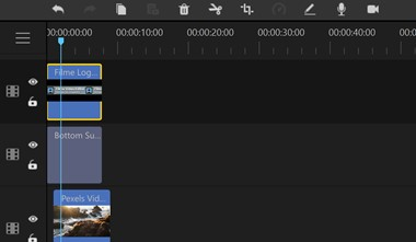 Filme edit in timeline