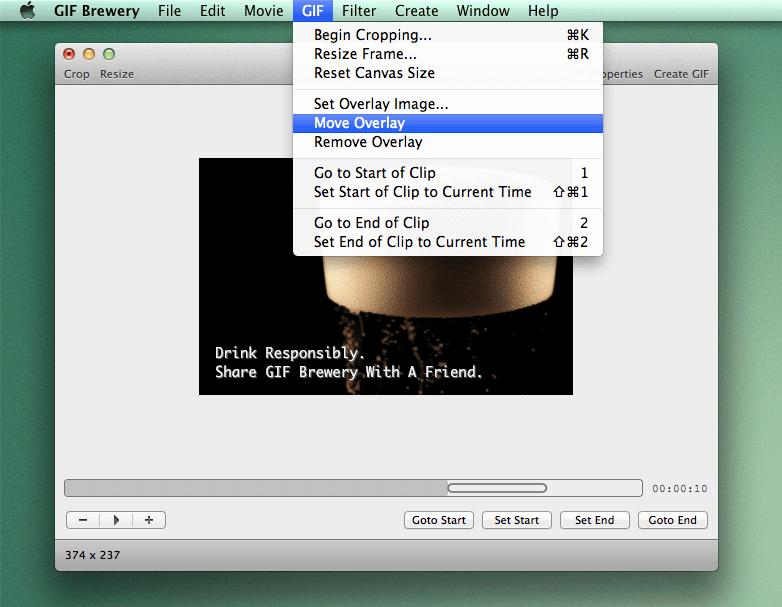 add gif to video GIF Brewery open file