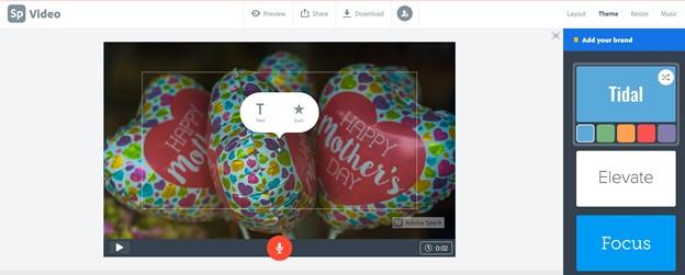 Mother's Day Slideshow Adobe Spark