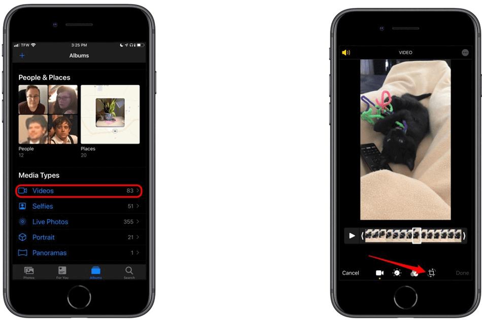 Photos App rotate video