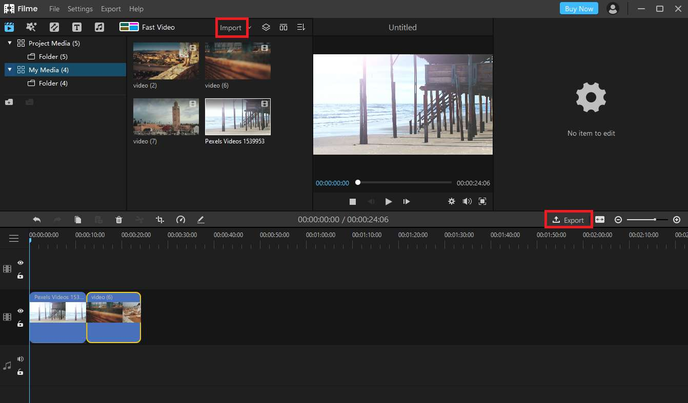 How to Trim a Video using iMyFone Filme