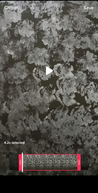 TikTok Trim Captured Video