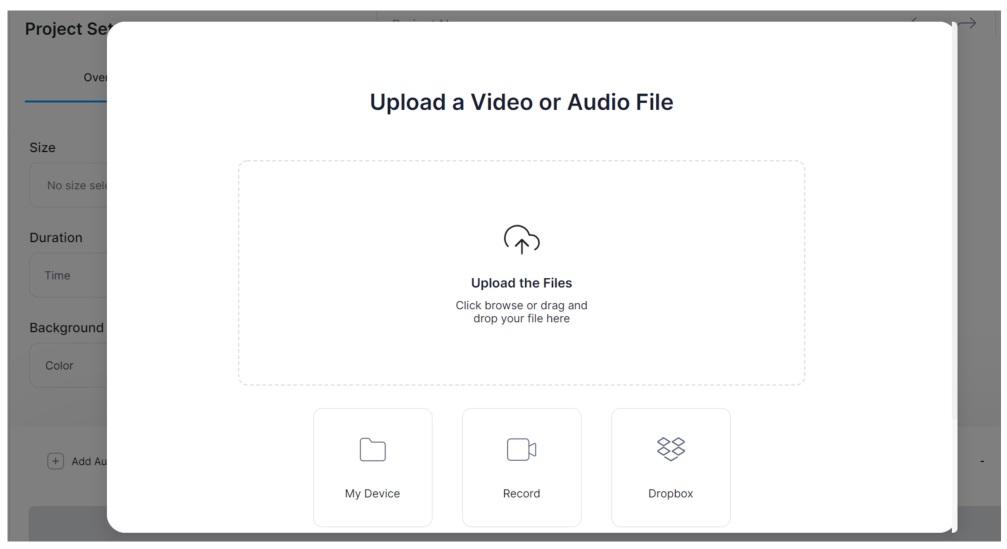 Veed Upload Video