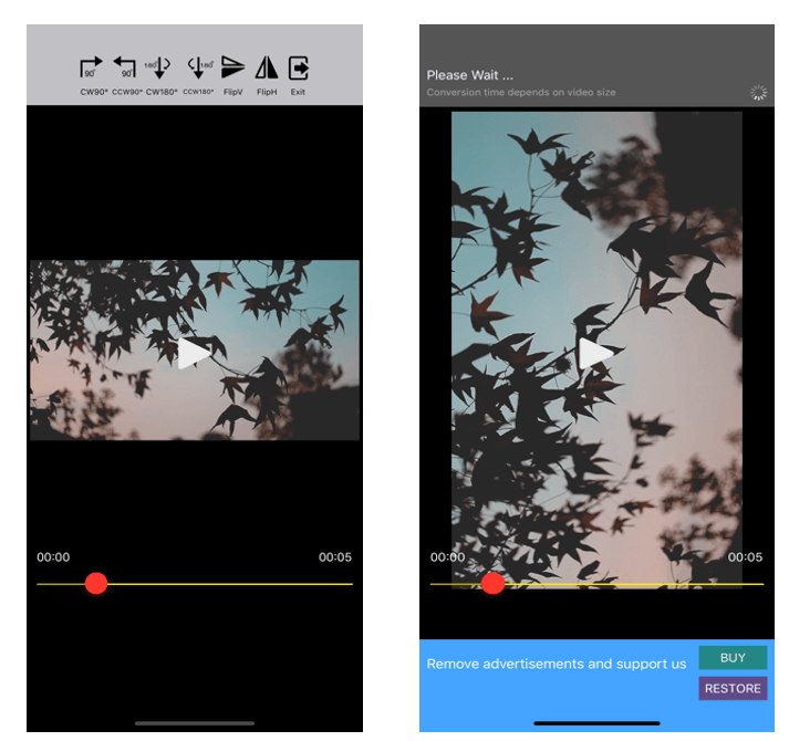 Video Rotate Flip