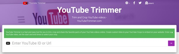 YouTube Trimmer