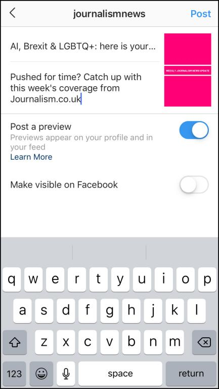 add infomation and description in igtv