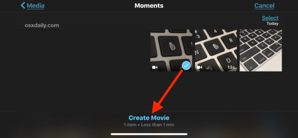 resize and rescale video in imovie iphone ipad
