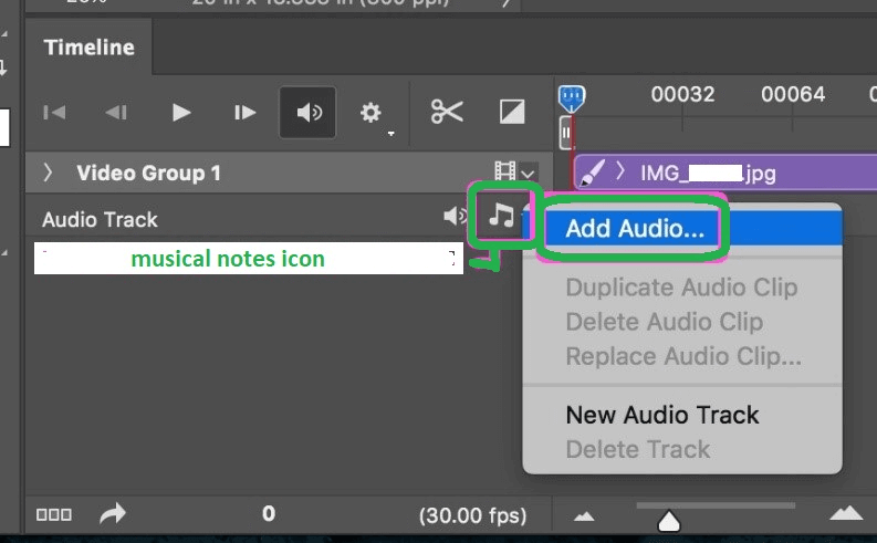 add musical notes in the slideshow