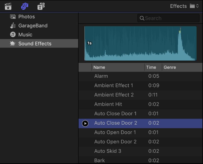 add sound effect final cut pro