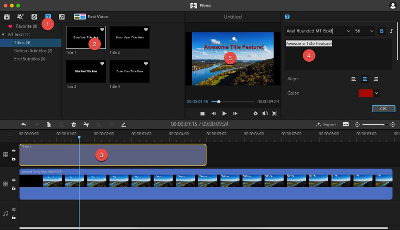 add text to video for a pro look - imyfone filme