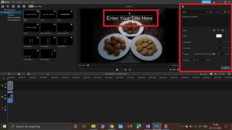 add text to videos