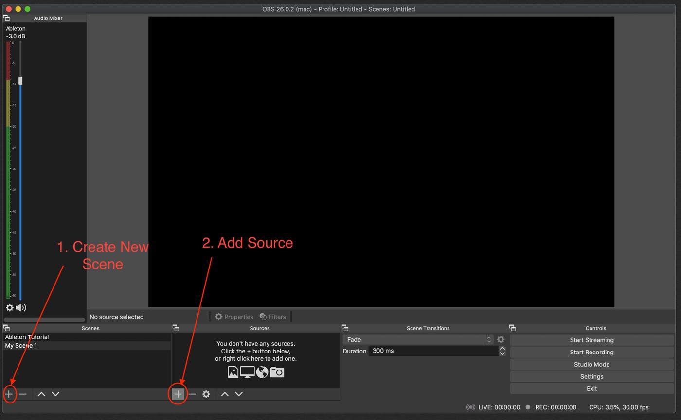 adjust the setting obs