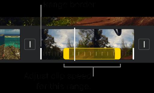 adjust video clip speed