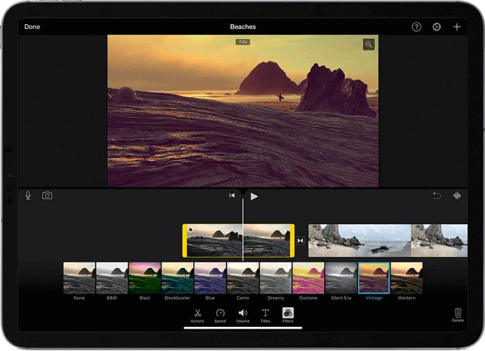 adjust video clip speed on ipad