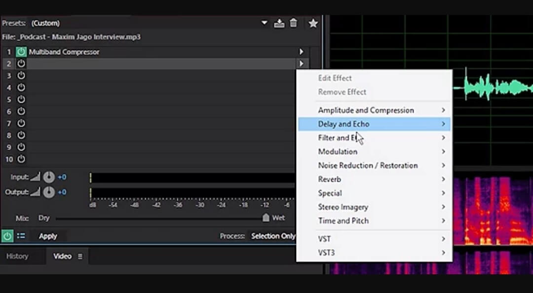 adobe audion voice effects