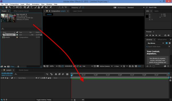 How to resize a video in after effects