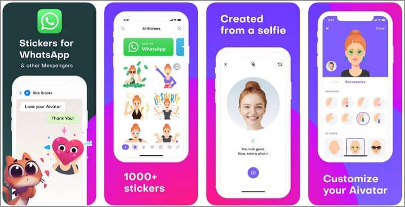 selfie avatar stickers for using on tiktok