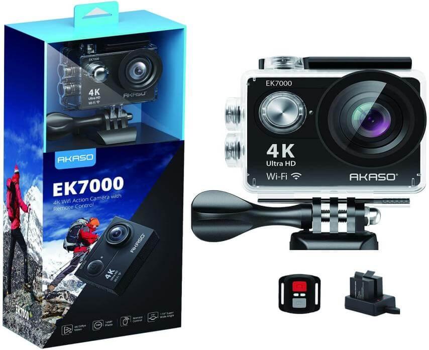 akaso camera for underwater vlogging