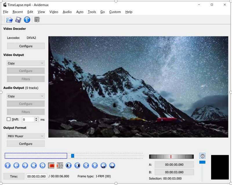 avidemux cutting video