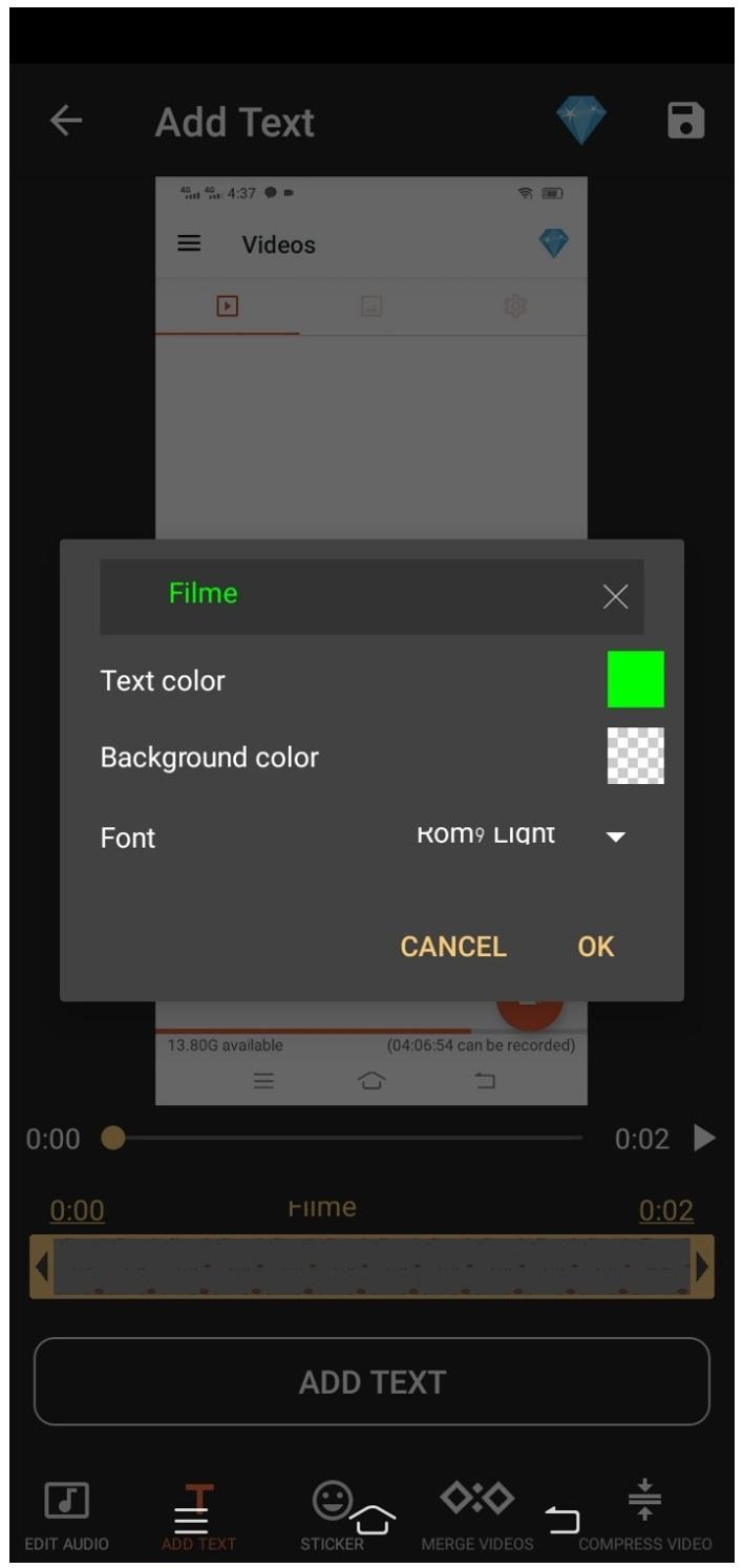 az screen recorder add text
