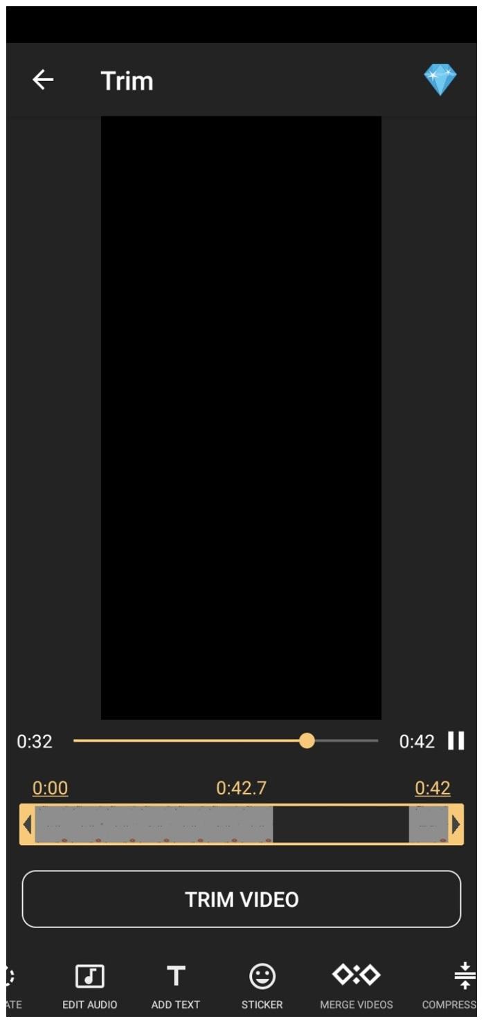 az screen recorder trim video