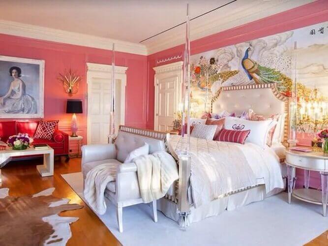 bedroom backdrop idea